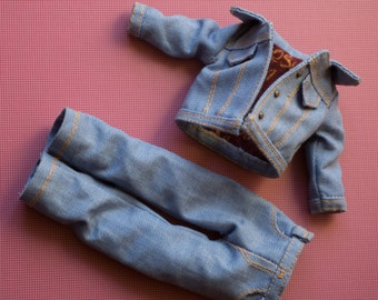 Set of jacket and pants jeans for Blythe cotton - fabric Jean Jacket and jean.