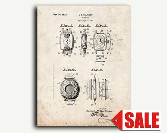 Patent Print - Watchcase Patent Wall Art Poster