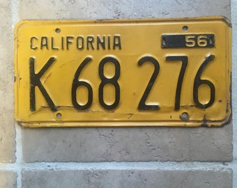 1956 California Automobile Transportation License Plate
