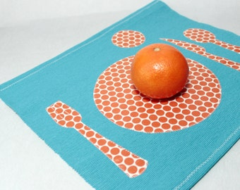 Montessori Placemat, Toddler Fabric Placemat, Kids Place Mat, Montessori Practical Life