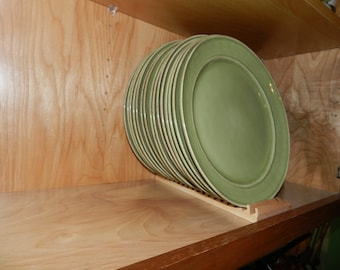 Wood Plate Rack for Vertical Plate Storage