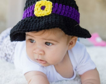 Crochet Witch Hat for Baby through Adult