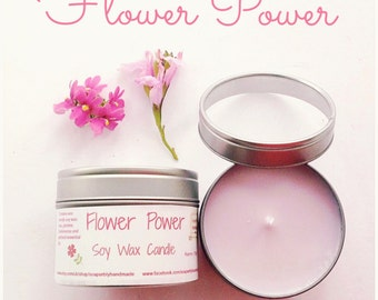 Candle, Rose and Jasmine fragrance with Frankincense and Patchouli, room fragrance, made with Eco friendly soy wax