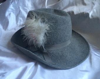 1960's Ladies Light Grey Wool Hat