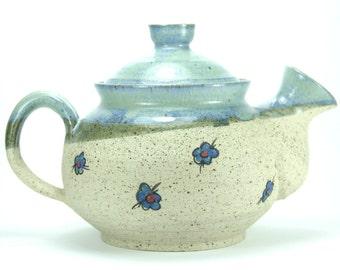 Ceramic teapot, Stoneware Teapot, ceramic kettle, blue ceramic, pottery teapot, tea kettle, teapot for sale, large teapot, infuser teapot