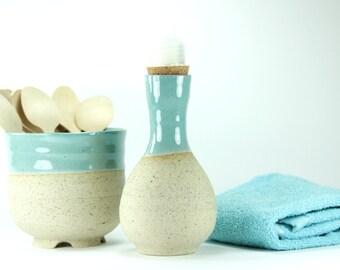 ceramic soap dispenser, Turquoise soap dispenser, Soap Dispenser pump, shower soap, soap holder, shampoo dispenser, dish set, ceramic stor