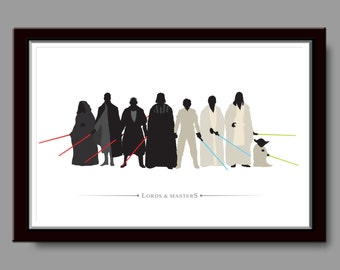 Jedi/Sith Inspired Lords & Masters - Minimalist Poster - Poster 160 - Home Decor