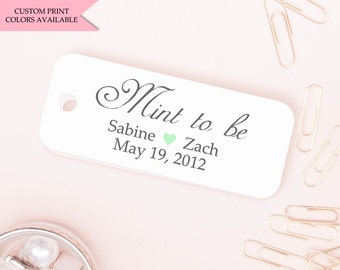 Mint to be tags (24) - Mint to be wedding favor - Wedding favor tags - Wedding gift tags - Wedding tags