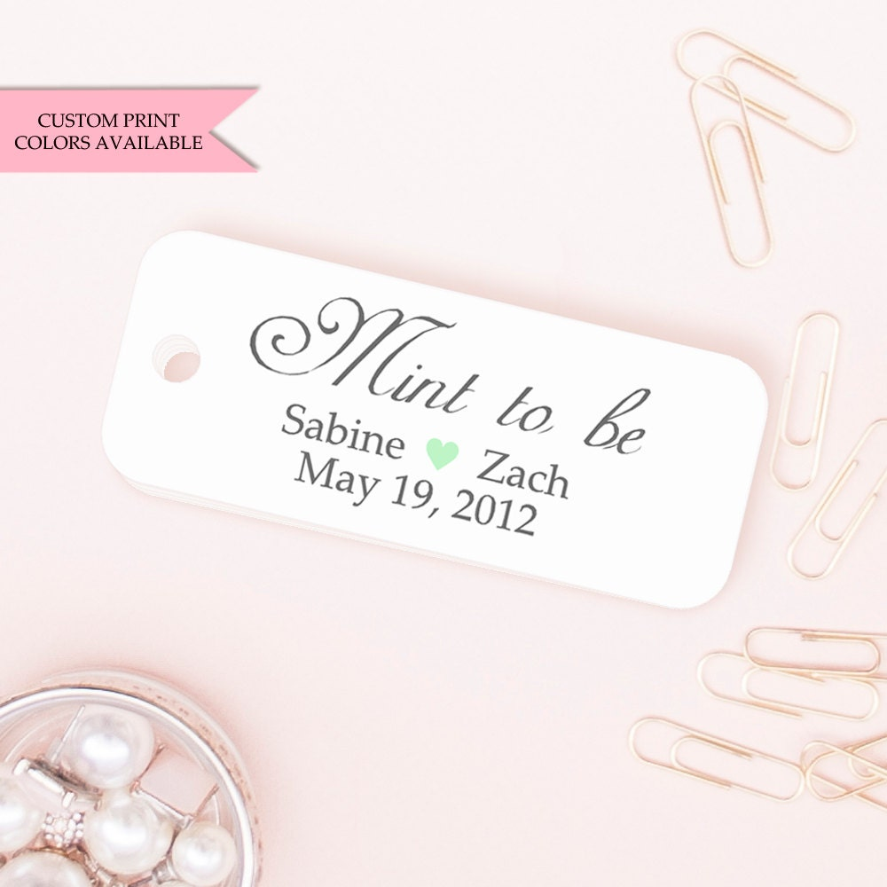 Minted Wedding Gift Tags : Mint to be tags 24 Mint to be wedding favor Wedding