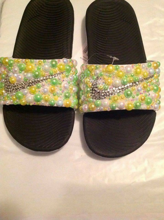 d862395d79798e 85%OFF Bling nike slides nike shoes accessories by Jukoriahsbling on Etsy