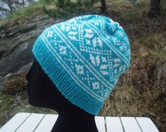 PDF knitting pattern, Nordic hat
