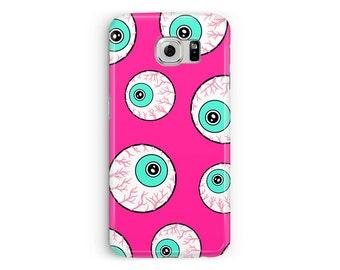 Samsung Galaxy S7 Case, S7 Cover, Goth Girl Phone Case, Eye pattern Samsung Case, Skater s7 Case, Protective Case, Cartoon Samsung s7 Case