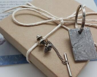 Meteorite Tie Tack | science jewelry | science gifts | gift for men 2018 | cool geek gifts | best geek gifts | best nerd gifts | geeky gift