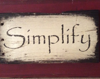 Simplify on Pallet Wood