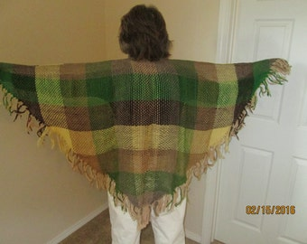 100% wool six foot triangular shawl