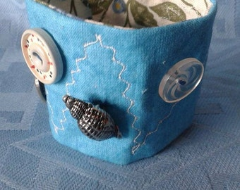 Turquoise Fabric Cuff