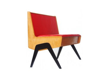 Red Bench Mid Century Modern