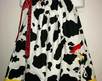 Toy Story Jessie Jesse Cowgirl Cowboy Girl Pillowcase Pillow Case Girl Boutique Summer Sun Dress! Birthday Party Mania Park