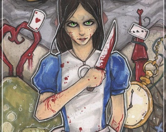 American McGee's Alice in Wonderland Poster Print Chris Oz Fulton
