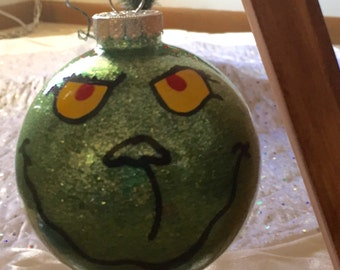 Glitter Grinch Ornament