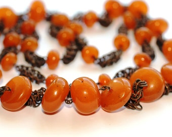 89.2 gr. Unusual Baltic Amber Beads Necklace /q