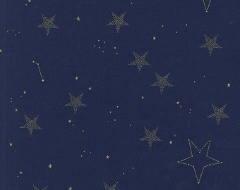 Lucky Stars in Navy, Magic! Collection by Sarah Jane for Michael Miller Fabrics
