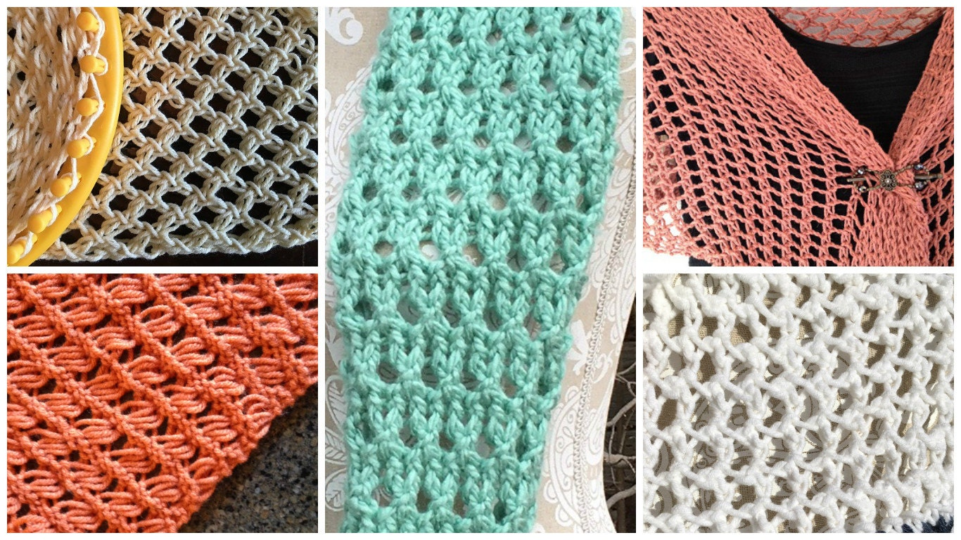 loom knitting stitches bing images