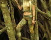 EARTHEART Loose Leggings/Pants / camo / Mandala / Fractal/ Goddess / yoga pants / sacred geometry leggings / Fractal leggings / earthy pants