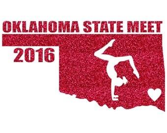 Oklahoma State Meet Iron On Decal