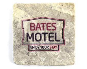 Psycho: Bates Motel Marble Tile Drink Coaster