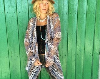 Hippie  boho crochet poncho jacket from ibiza