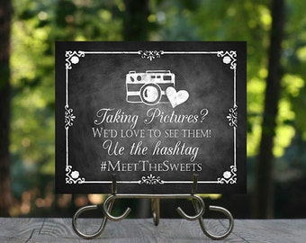 Taking Pictures Wedding Hashtag Sign, Printable Wedding Sign, Rustic Wedding Sign, Wedding Decoration, Custom Hashtag Sign, Social Media
