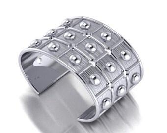 Silver Bubbles Cuff