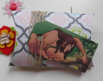 Tarzan, 10 gift tags, Handmade, Disney, Tarzan labels, Tarzan gift tags, Disney labels, Disney gift tags, Paper ephemera, Journaling, #241