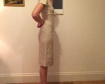 1950's Cream Tea Dress