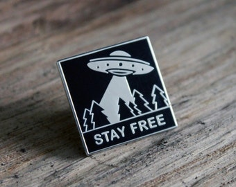 Stay Free Enamel Pin