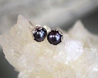 Pearl Post Earrings // Sterling Silver