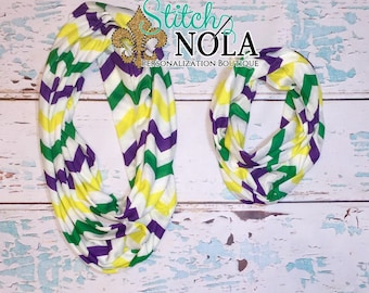 SALE!!! ~~Immediate SHIP!!! Gras Chevron Scarf, Adult Mardi Gras Scarf, Kids Mardi Gras Scarf, Mardi Gras Scarf, Chevron Scarf, Purple Gree