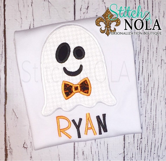 Ghost with Bowtie Shirt, Romper or Bodysuit