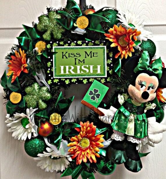 Disney Inspired Minnie Mouse KISS ME Irish St Patricks Day ...