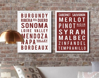 Wine Art Prints Napa Valley Art Sonoma Print Modern Art Home Decor Wall Art Scroll Sign