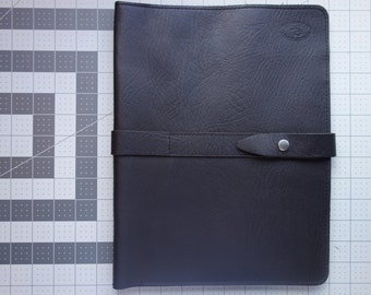 Dark brown PORTFOLIO Tablet cover sleeve. ( BISON)( Ready to ship) Leather Portfolio handmade in my studio. Corporate gifts  made easy