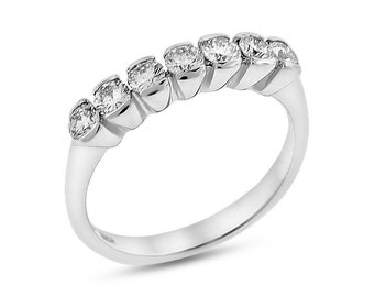 0.50 Ct. Super Fine Quality Diamond Wedding Band Ring Solid 18k White Gold