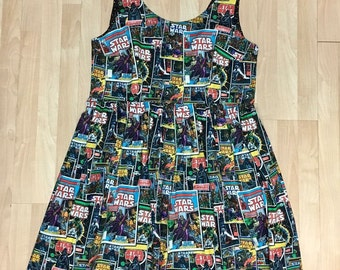 Dress Made with Star Wars Comic Book Fabric