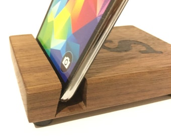 Wood Docking Station | Smart Phone Holder | Wood Phone Dock | Phone Stand | Tablet Stand | Charging Station