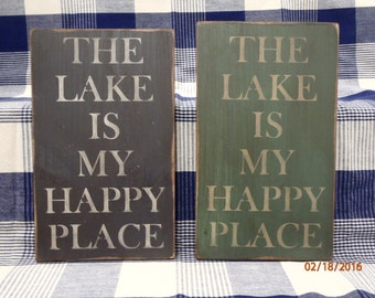 Lake Sign Lake Decor Lake House Sign Cottage Sign Cabin Sign Summer Sign Primitive Sign Wood Sign Home Decor Rustic Sign Wall Decor