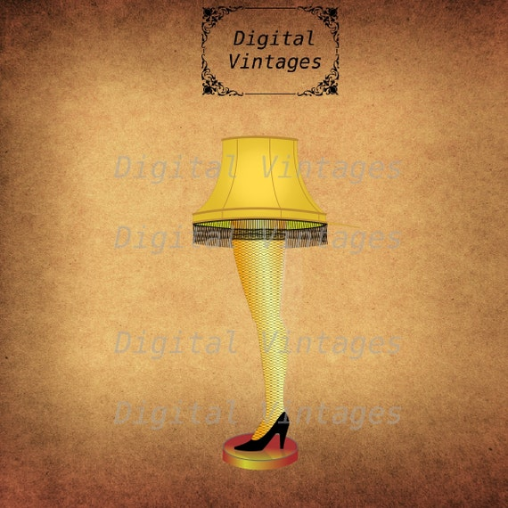 Leg Lamp Christmas Story Vintage Digital Image Download