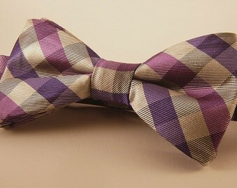 Plaid Mens Bow Tie