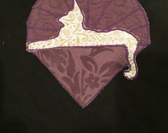 Cats Under the Stars ~ Purple and Gold Hand Made Patch ~ Applique ~ Iron On ~ FREE US SHIPPING!!
