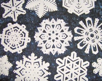 10 Paper Snowflakes- for Winter and party window decoration